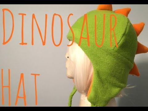 340ab42190e Making a Dinosaur hat! - YouTube