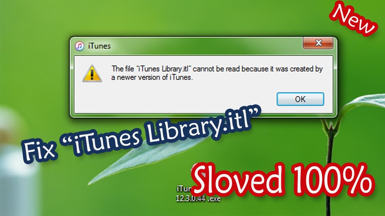 Fix iTunes Library itl Cannot be read - 2016 Sloved 100%