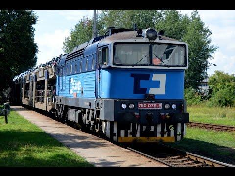 Nákladní vlaky (odklony) pro Škoda auto na traťi 063 a 064 25.-30.7. 2016  [Full HD]