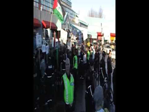 Protest at Stephen Harpers Calgary office for Gaza Part 3