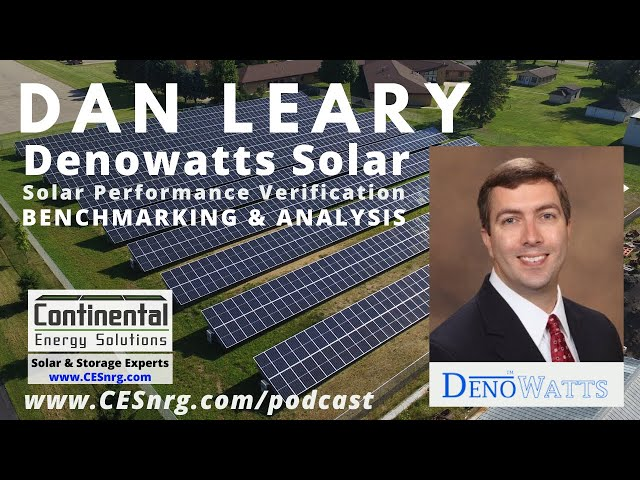 Dan Leary - Denowatts Solar | Solar Performance Verification, Benchmarking & Analysis