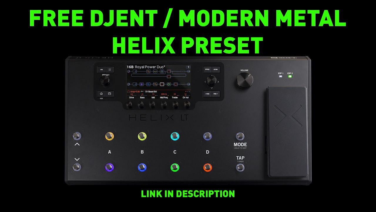 Free Djent / Modern Metal Preset For Line 6 Helix