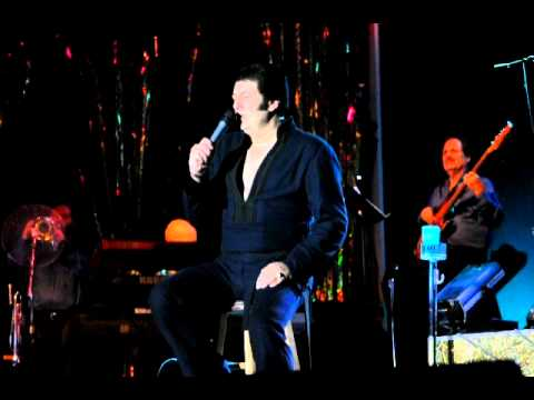 Lou Vuto as Elvis singing MEMORIES at Memories Theatre final show in their old location