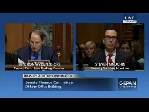 Ron Wyden goes nuclear on Steven Mnuchin