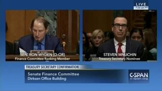 Ron Wyden goes nuclear on Steven Mnuchin