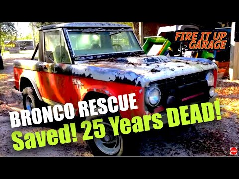 ABANDONED EARLY BRONCO & FORD MUSTANG GT RESCUE
