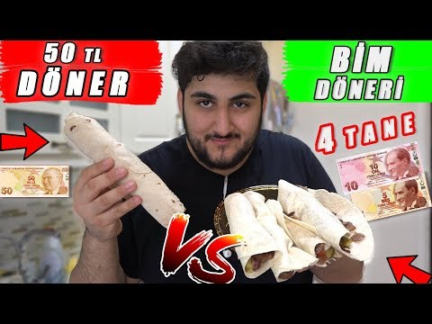 15 TL BİM DÖNERİ VS 50 TL DÖNER ! (Et Dürüm)