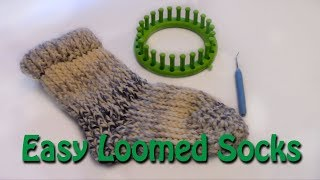 How to Loom Knit a Pair of Socks