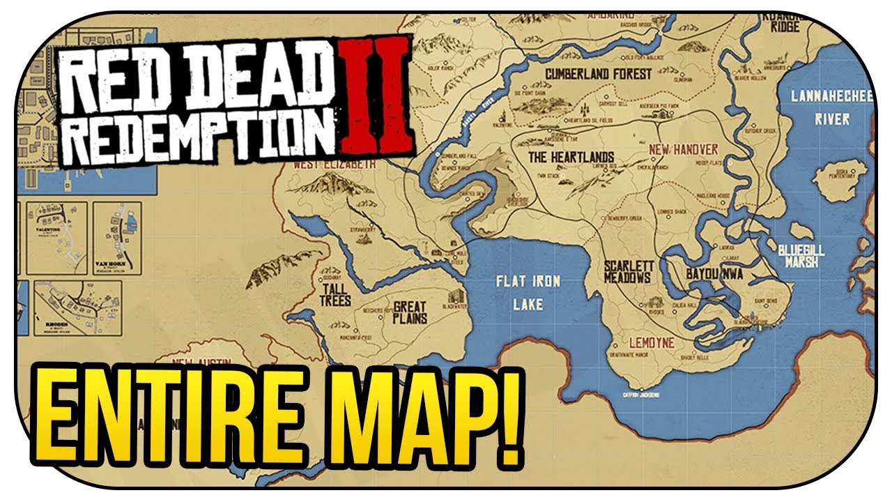 Red Dead Redemption Us Map.Red Dead Redemption 2 Entire Map Confirmed Mexico Returns Youtube
