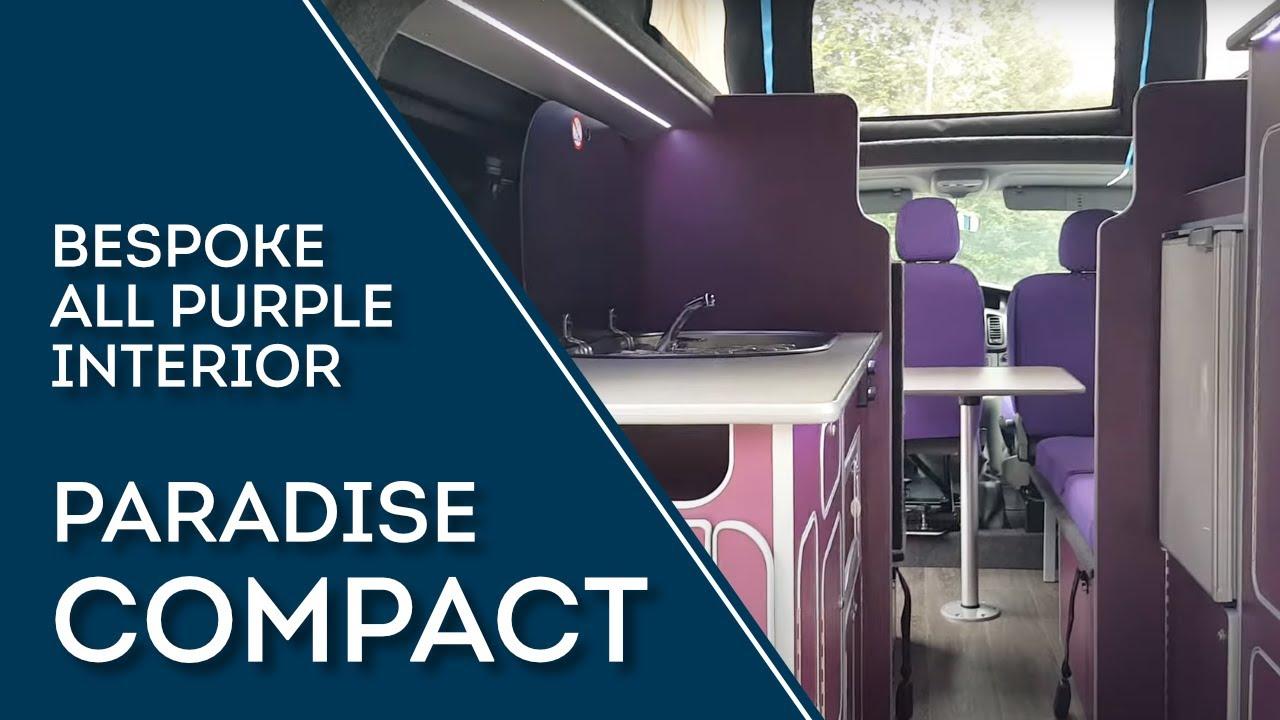 Sussex campervans purple bespoke interior camper uk london brighton