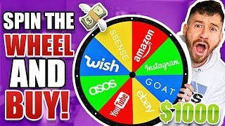 Spin The Mystery Wheel and Buy Whatever It Lands On! ($1,000 CHALLENGE WISH, ASOS, AMAZON ETC.)