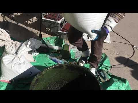 Сделай Сам набор бесшовного покрытия из резиновой крошки ФИНИШ 1.5 м2 подготовка рабочей смеси.