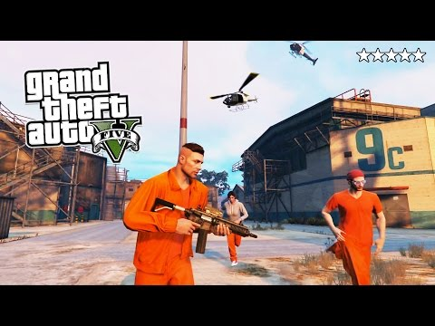 GTA 5 Online PRISON BREAK! 5 Star POLICE Getaway in GTA Onli