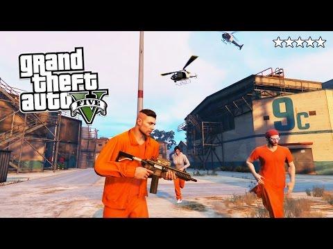 GTA 5 Online PRISON BREAK! 5 Star POLICE Getaway in GTA Online! GTA 5 PS4 Gameplay