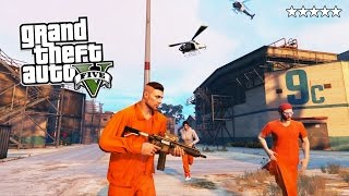 GTA 5 Online PRISON BREAK! 5 Star POLICE Getaway in GTA Online! (GTA 5 PS4 Gameplay)