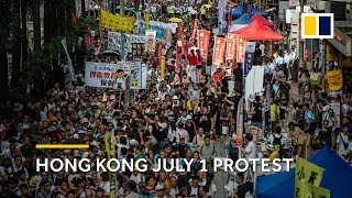 Hong Kong: July 1 march goes ahead despite controversy over protest route