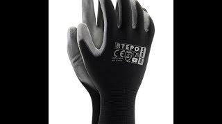 Перчатки REIS Rtepo. Купить польские перчатки с покрытием полиуретаном для защиты рук от истираний