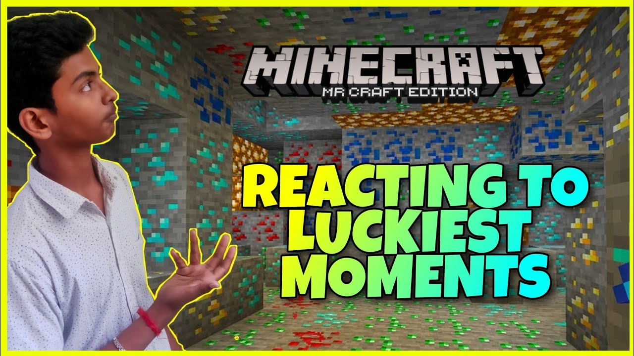 Download My first reaction video!!!! | Face Cam | Minecraft Most luckiest movments | Mr Craft