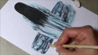 Drawing Samara (the ghost from THE RING)