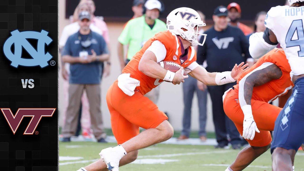 UNC-Virginia Tech football live updates: Sam Howell, Tar Heels fall ...