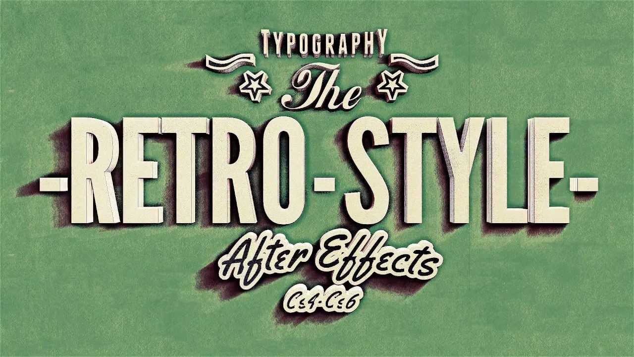 Kinetic Typography, Vintage Retro Style After effects