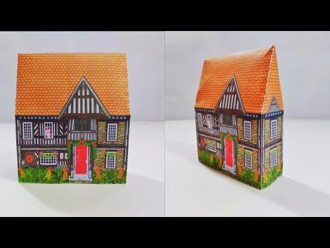 কাগজ দিয়ে বানানো অসাধারণ একটি ঘর | DIY Paper House using Color paper