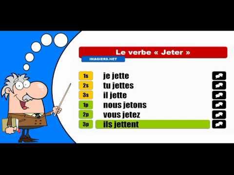 La Conjugaison Du Verbe Jeter Indicatif Present Youtube