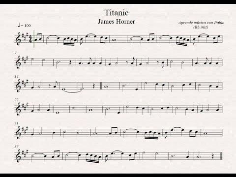 TITANIC: Bb inst (clarinete, trompeta, saxo soprano/tenor) (partitura con playback)
