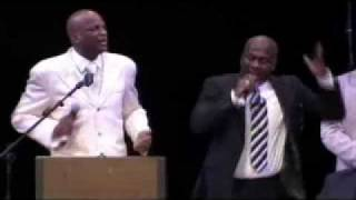 "Donnie McClurkin & BeBe Winans performs ""Stand"" at Walter Hawkins Memorial Service"