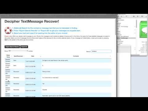 Recover Deleted Text Messages with Decipher TextMessage