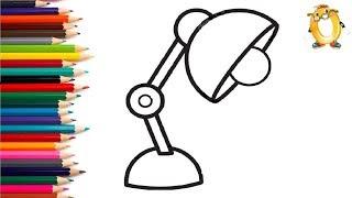 Раскраска для детей КРАСИВАЯ ЛАМПА. Мультик - Раскраска. Учим цвета II ОБУЧАШКА ТВ