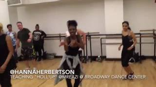 "DANCEHALL Class @HannaHerbertson @MrEazi ""Hollup"" ft Joey B - Broadway Dance Center NYC"