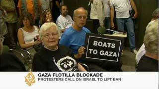 Protesters call on Israel to lift blockade on Gaza