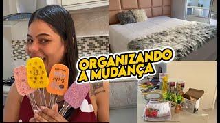 ORGANIZANDO A MUDANÇA | Cozinha e cama posta | CASA LIMPA