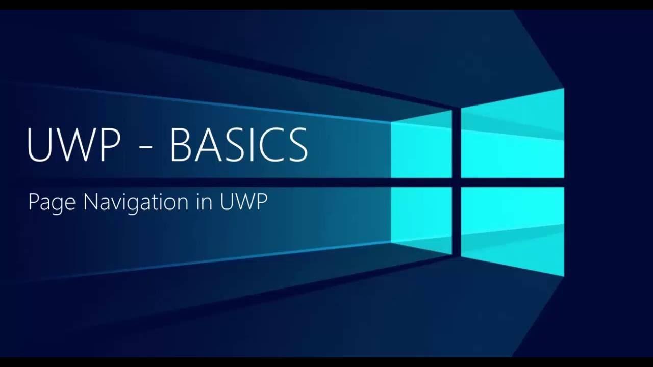 UWP BASICS - Navigation in UWP