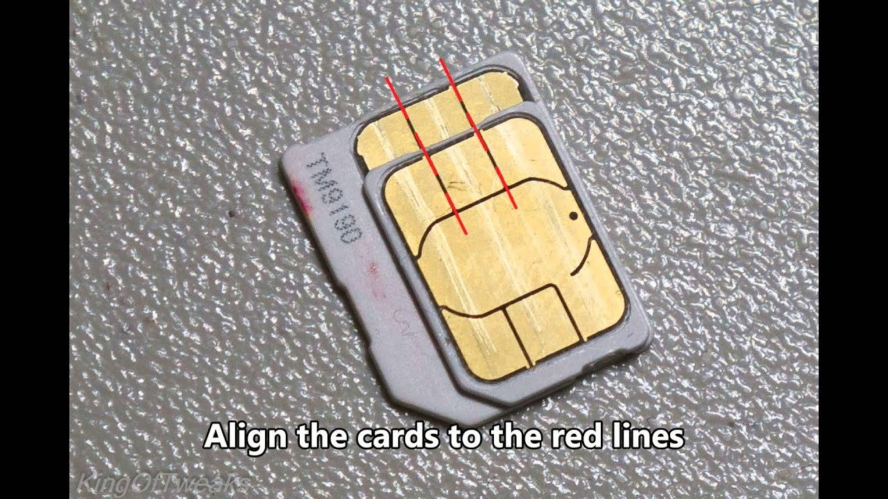 How To Cut A Micro Sim To Nano Youtube