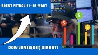 Dow Jones Endeksi Dji  - Brent Petrol  11-15 Mart  Arasında Ne Olacak?