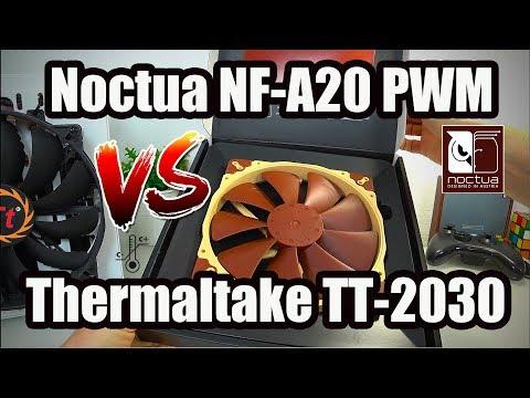 ОБЗОР-ТЕСТ-СРАВНЕНИЕ Noctua NF-A20 PWM VS Тhеrmаltаkе ТТ-2030