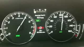 Acura RLX 0-60 launch (also misshift)...