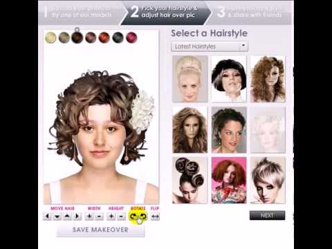 How To Use Virtual Hairstyle Design Youtube