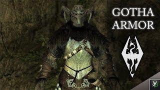 GOTHA ARMOR!!- Xbox Modded Skyrim Mod Showcase