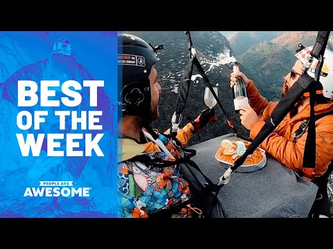 Eating Cake on Parachute, Skater Kid, Parkour & More | Best of the Week