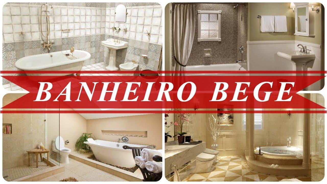 Banheiro bege  YouTube -> Banheiro Com Pastilhas Bege E Marrom
