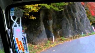 岩手県道35号線笛吹峠 遠野~釜石 2トントラックで走行