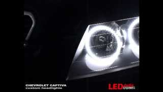 Chevrolet Captiva custom LED headlights(Светодиодный тюнинг фар Chevrolet Captiva от Студии LightDNS.ru. Установлены светодиодные кольца и светодиодные модули..., 2010-03-13T12:11:02.000Z)