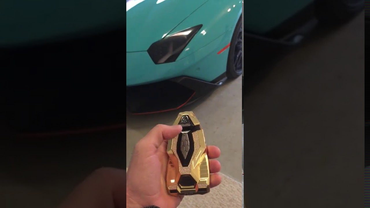 Lamborghini Aventador Concept Key With Diamond Encrusted Youtube