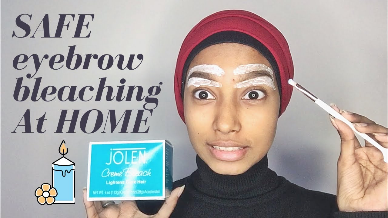 How to: Bleach Eyebrows at Home | FAHIMA HAQUE