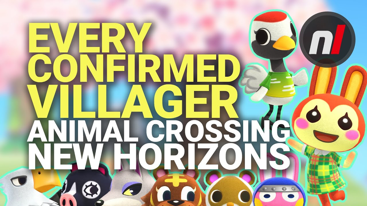 Every Villager Character Confirmed For Animal Crossing New