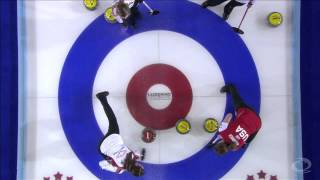 CURLING: WWCC 2013 Bronze CAN vs USA - HIGHLIGHTS