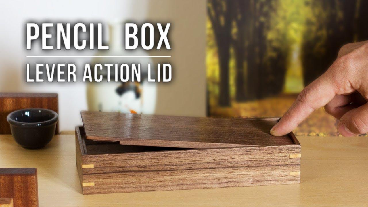 making pen & pencil boxes with lever action lids